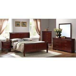 Bradford Cherry Sleigh Bed 5-piece Set
