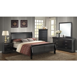 Picket House Bradford Black Sleigh Bed 5-piece Bedroom Set