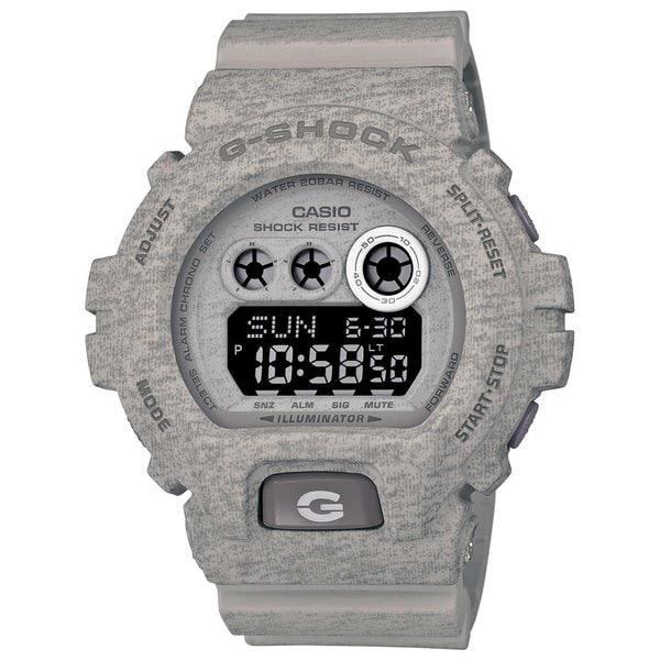 Casio G-Shock Men's Heathered Digital Multi-Function Chronograph Grey Resin Watch GDX-6900HT-8