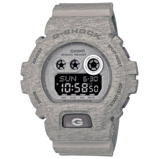 Casio G-Shock Men's Heathered Digital Multi-Function Chronograph Grey Resin Watch GDX-6900HT-8