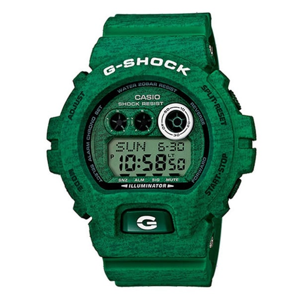 Casio G-Shock Men's Heathered Digital Multi-Function Chronograph Green Resin Watch GDX-6900HT-3