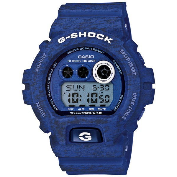 Casio G-Shock Men's Heathered Digital Multi-Function Chronograph Blue Resin Watch GDX-6900HT-2