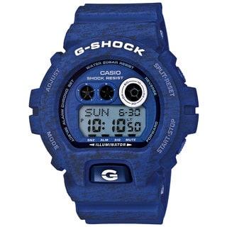 Casio G-Shock Men's Heathered Digital Multi-Function Chronograph Blue Resin Watch GDX-6900HT-2