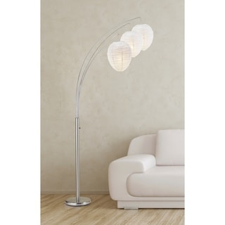 Belle Arc Satin Steel Lamp