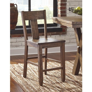 Signature Design By Ashley Walnord Rustic Brown Barstools (Set of 2)