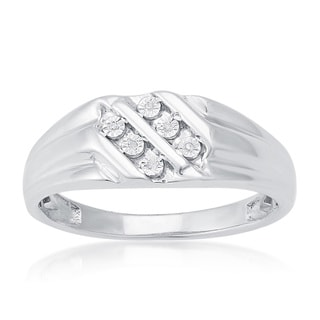 Sterling Silver Diamond Accent Men's Ring (H-I, I2-I3)