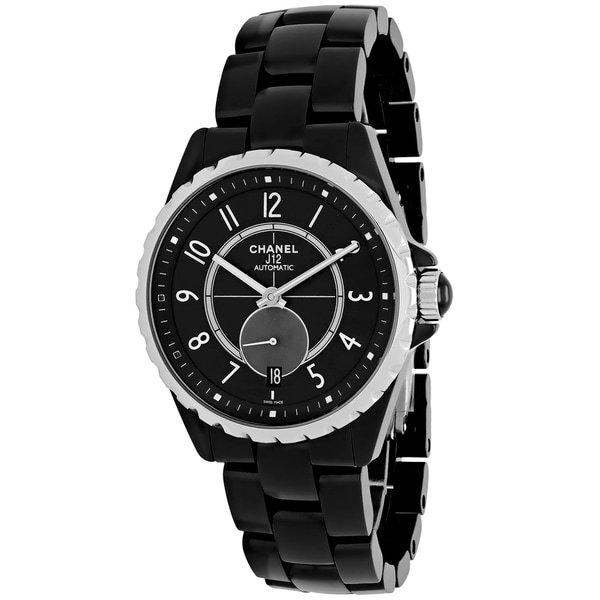 Chanel Women's H3836 J12 Automatic Round Black Ceramic Bracelet Watch