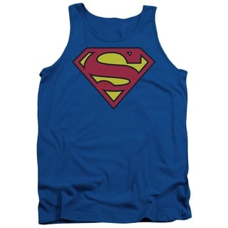 Men's Cotton Blue Superman Classic Tank Shirt