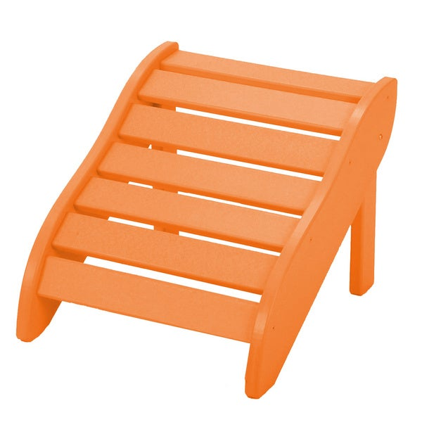 Orange Wooden Foot Rest