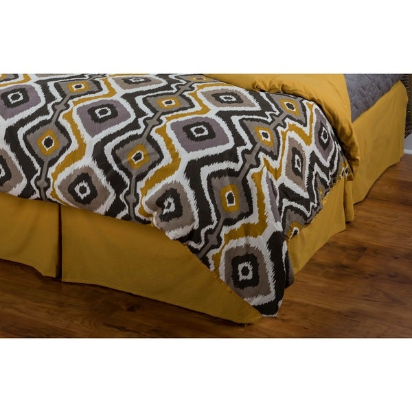 Rizzy Home Kinetics Yellow Bed Skirt