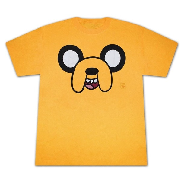 Men's Yellow Adventure Time Jake Face T-Shirt
