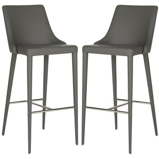 Safavieh Summerset Grey 29-inch Bar Stool (Set of 2)
