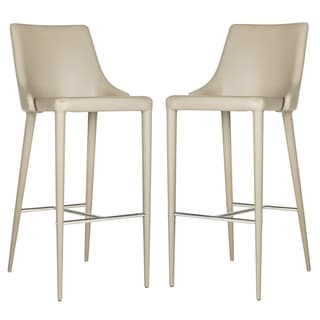 Safavieh Summerset Taupe 29-inch Bar Stool (Set of 2)