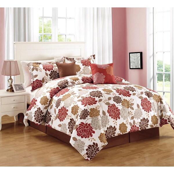 Gigi Brick Red 6-piece Comforter Set