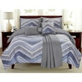 Mercer Blue Chevron 6-piece Comforter Set