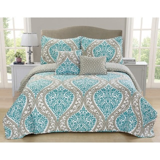 Calinda Reversible 5-piece Quilt Set