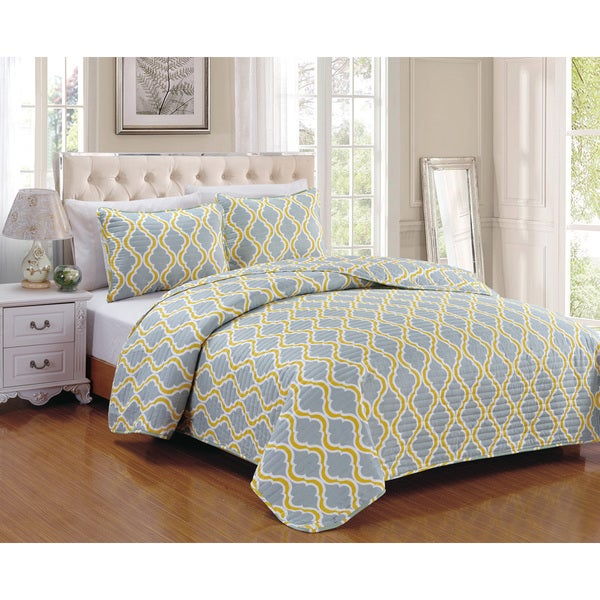 TurnerYellow 3-piece Quilt Set
