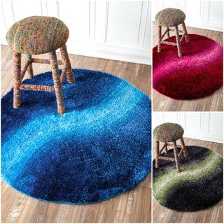 nuLOOM Soft and Plush Ombre Kids Shag Rug (4' Round)