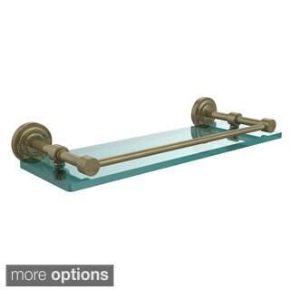 Allied Brass Dottingham 16-inch Glass Shelf with Gallery Rail