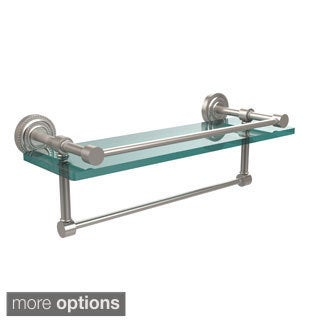Allied Brass Dottingham 16-inch Gallery Glass Shelf with Towel Bar