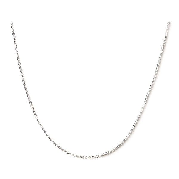 DeBuman 16-inch Sterling Silver Open Cable Chain Necklace (1mm)