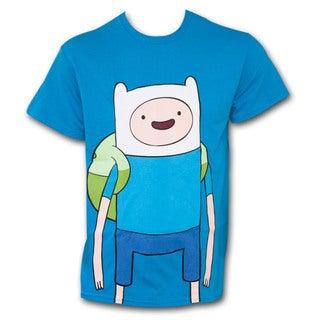Adventure Time Large Finn Shirt Blue