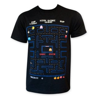 Pac-Man Men's Black Game Board T-Shirt