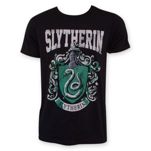 Harry Potter Black Slytherin Logo Tee Shirt