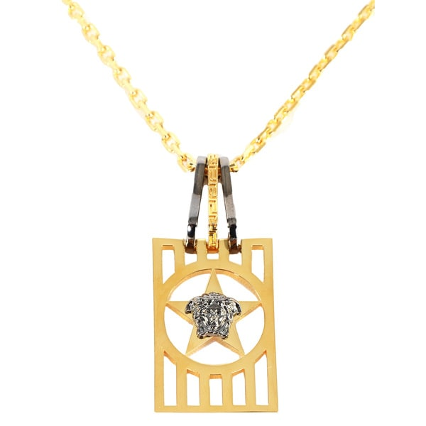 Versace Goldtone Men's Medusa Medallion Necklace
