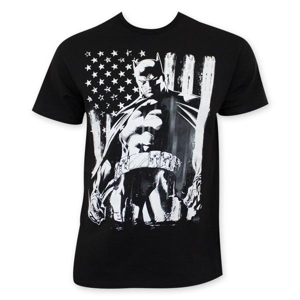 Men's Chalk American Flag Batman Tee Shirt 15830571