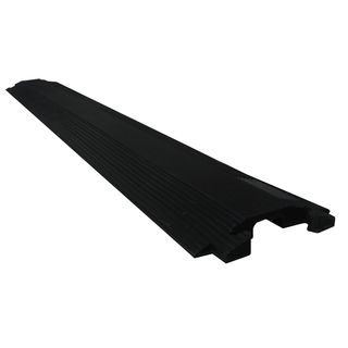 Clear Sound 40-inch Black Rubber Cable Cover Ramp