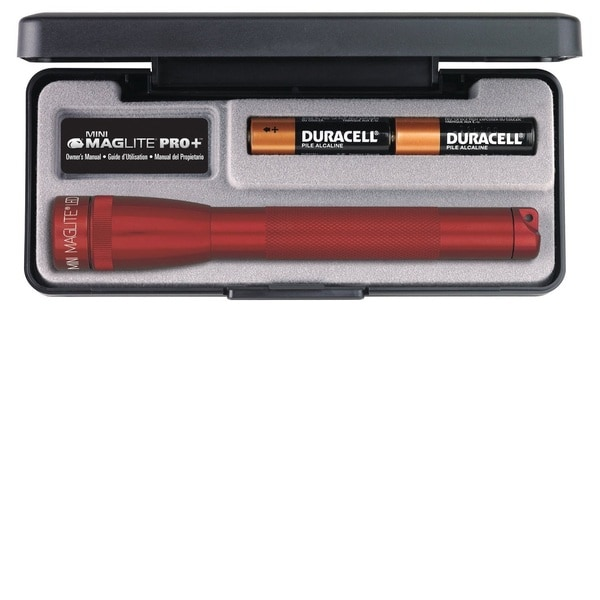 AA Mini Maglite LED Pro+ AA Red Flashlight Presentation Box