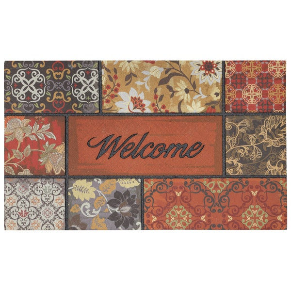 "Mohawk Home Floral in the Fall Welcome Doormat (18""x30"")"