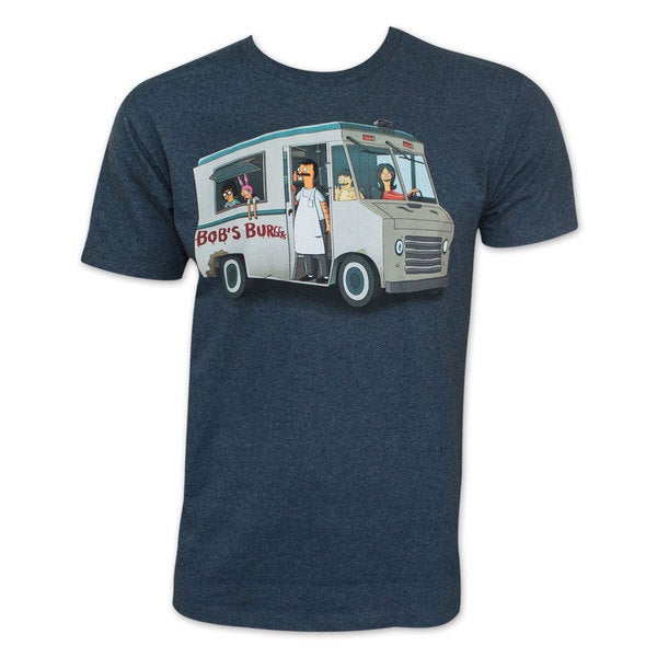 Bob's Burgers Food Truck Gang Navy Heather T-Shirt