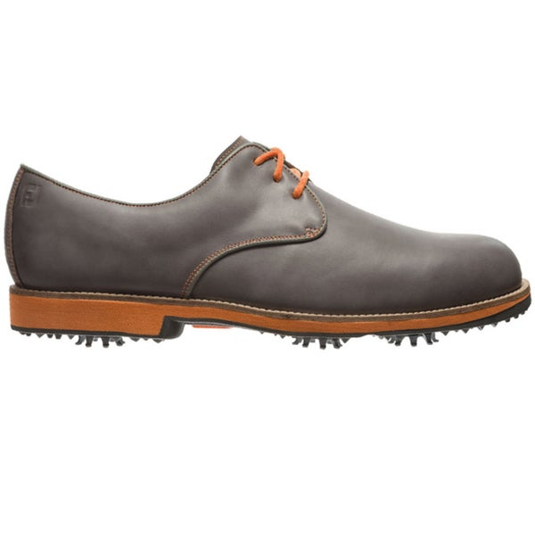 FootJoy Mens FJ City Grey-Orange Golf Shoes