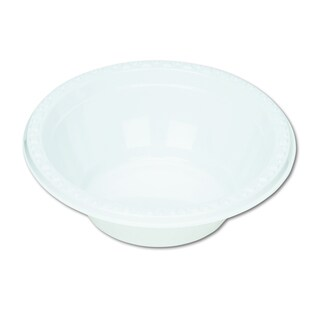 Tablemate 5 oz White Plastic Dinnerware Bowls (Pack of 125)