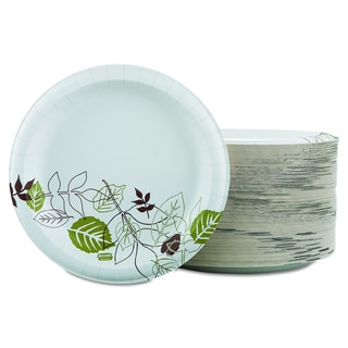 Dixie Ultra Pathways Heavyweight 8 1/2 inch Green/Burgundy Paper Plates (Pack of 125)