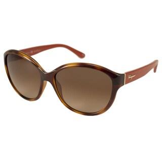Ferragamo Women's SF717S Oversize Sunglasses