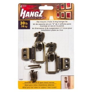 HANGZ Canvas 2 Hole D Ring Hanger Kit 30-pound