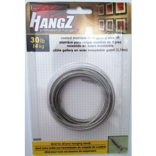 HANGZ Gallery Wire Coated Stainless Steel 9ft 30-pound