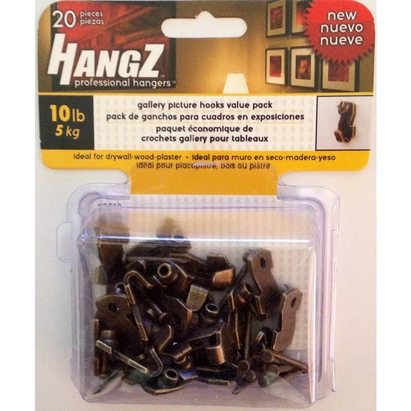 HANGZ Gallery Picture Hooks 10-pound Value Pack
