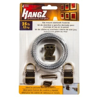 HANGZ Canvas Sawtooth Hook Wire Kit 25-pound