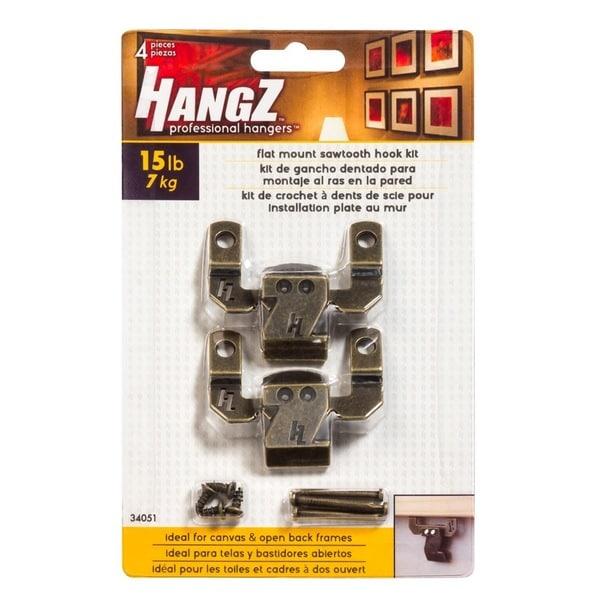 HANGZ Canvas Sawtooth Hook Kit 15-pound