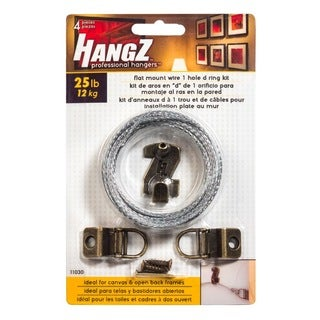 HANGZ Canvas 1 Hole D Ring Kit 25-pound