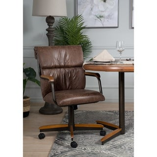 Casual Dining Swivel and Tilt Rolling Dining Chair