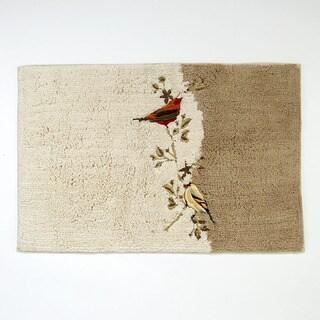 Gilded Birds Bath Rug