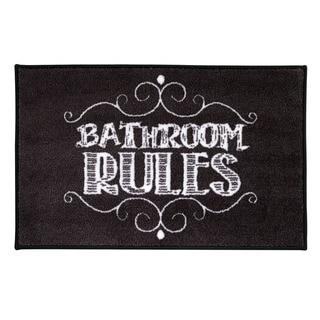 Avanti Chalk It Up 'Bathroom Rules' Nylon Bath Rug