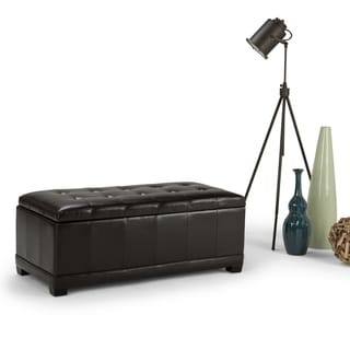 WYNDENHALL Norwood Rectangular Storage Ottoman Bench