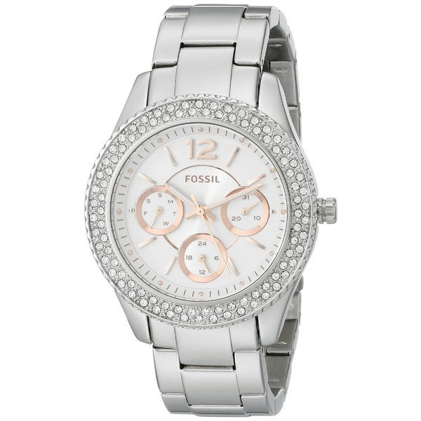 Fossil Women's Stella Diamond Stainless Steel Multi-Function Watch ES3722