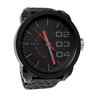 Diesel Men's Analog Black Dial Black Resin Bracelet Watch DZ1460